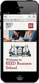 reed business school responsive website for mobile