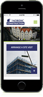 nordic construction responsive website for mobile