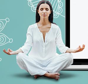 skinny buddha lady meditating