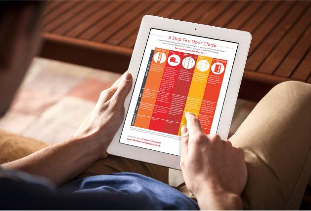 fire door safety week tablet