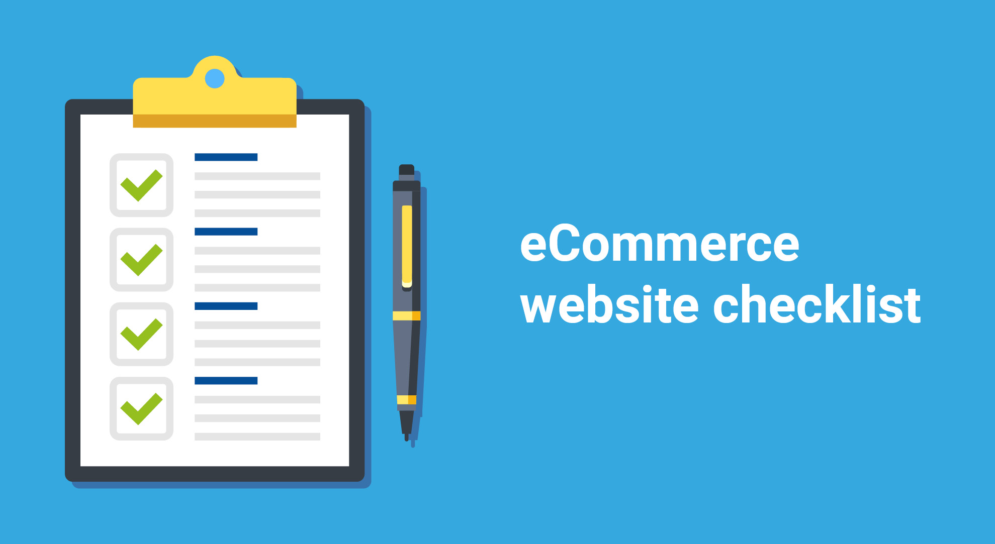 eCommerce websites design for small business checklist